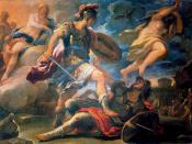 Luca Giordano, Enea vince Turno, Olio su tela, 176 × 236 cm. Galleria Corsini.