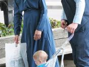 English: This is my own work, Gila Brand. Photo of Amish family visiting Niagara Falls, Canada