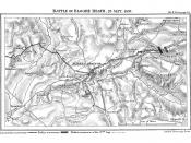 Map for the Battle of Blore Heath