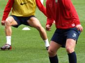 English: Nicky Shorey in training, Picture by Gus Stephens