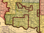 English: Detail of map showing Indian territories in Oklahoma, from Library of Congress, first published by The Daily Oklahoman in 1905.