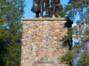 Donner Party Memorial statue: erected in June 1918, the work of art is no longer copyrighted (pre-1923