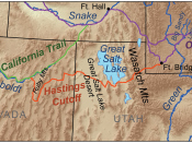 Map showing the route taken by the Donner Party.