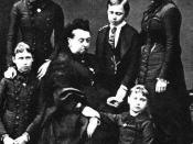 English: The Hessian children with their grandmother, Queen Victoria