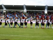 Aston Villa players pre-match