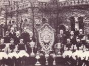 The Aston Villa team of the 1890s. The hugely successful team Ramsay assembled at the end of the 19th Century. Ramsay can be seen standing on the far left of the back row. The Aston Villa team of 1897 that won The Double. The Aston Villa team of the late