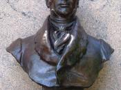 Bust of Washington Irving, Irvington, NY