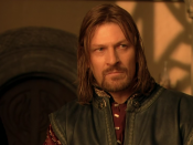 Sean Bean as Boromir in Peter Jackson's live-action version of The Lord of the Rings.