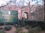 Main entrance to Manhattan College. See also File:Manhattan Coll jeh.JPG.