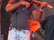 English: Boyd Tinsley, Violinist for Dave Matthews Band, Rothbury Michigan