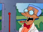 Waylon Smithers' initial (and only) appearance as an African American, as seen in