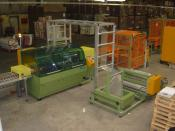 A machine designed to continuously wrap up to 35 packets per minute