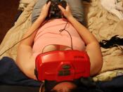 This is really the only comfortable way to play a Virtual Boy: supine, with a sock on your nose.