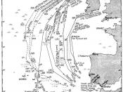 English: Operation TORCH - Outward movements of assault and advance convoys