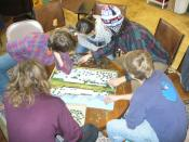 English: Jigsaw puzzling at Our Community Place in Harrisonburg, Virginia.