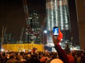 Celebraciones en Nueva York de la muerte de Osama bin Laden. 2 de mayo de 2011.