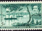 English: US Postage Stamp, 3c, 1953 issue, Commodore Perry Perry