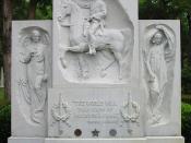 English: Sam Houston's grave in Huntsville, Texas. Español: Tumba de Sam Houston en Huntsville, Texas.