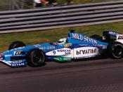 Giancarlo Fisichella driving for Benetton Formula at the 1999 Canadian Grand Prix.