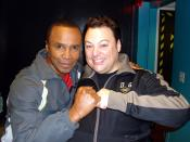 Carlos De Antonis and Sugar Ray Leonard