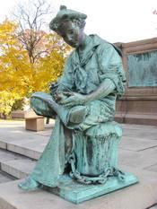 Seated figure - Samuel Colt Memorial, Colt Park, Hartford, Connecticut, USA.