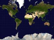 Mercator projection of the Earth. Source image is from NASA's Earth Observatory