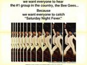 Movie poster of (edited) PG version of Saturday Night Fever