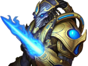 A Protoss Zealot, as displayed in StarCraft II.