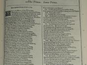 Photo of the first page of Richard III from a facsimile edition of the First Folio of Shakespeare's plays, published in 1623