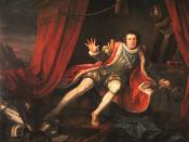 Richard III, Act 5, scene 3: Richard, played by David Garrick, awakens after a nightmare visit by the ghosts of his victims.