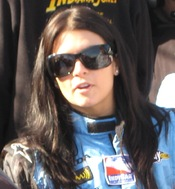 English: Andretti Green Racing's Danica Patrick at the Indianapolis Motor Speedway for Pole Day for the 2008 Indianapolis 500 on Saturday, May 10, 2010.