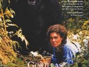 Film poster for Gorillas in the Mist: The Story of Dian Fossey - Copyright 1988, Universal Pictures