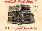 English: Lummus cotton gin advertisement, 1896