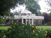 The 'back side' of Monticello and the gardens.