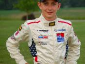 English: Racecar driver Zach Veach