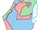 The main differences between the 1947 partition proposal and 1949 armistice lines are highlighted in light red and magenta
