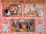 Soviet poster circa 1925. Title translation: