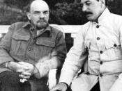 The two major economic policy makers of the USSR, Lenin (left) created the NEP while Stalin (right) created the planned economy