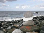 Stones on a Rocky Ocean Beach