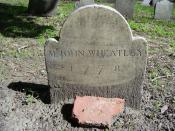 English: My photo of the John Wheatley (owner of Phillis Wheatley) grave in the Granary Burying Ground in Boston in 2008.