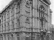 Keneseth Eliyahu Synagogue, Bombay. End of the XIXth century, or begining of the XXth century.