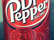 English: Dr. Pepper 12 OZ Regular Can with the current logo.