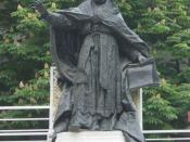 Statue of Benedict XV in the courtyard of St. Esprit Cathedral, Istanbul.