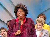 Winfrey on the first national broadcast of The Oprah Winfrey Show in 1986
