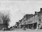 "English: ""This photograph, taken in 1862, shows at left the public square in which the debate took place."" The location is Quincy, Illinois."