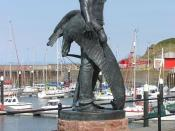 A statue of the Ancient Mariner, with the albatross around his neck, at Watchet, Somerset. The statue was unveiled in September 2003 as a tribute to Samuel Taylor Coleridge. Ah ! well a-day ! what evil looks Had I from old and young ! Instead of the cross