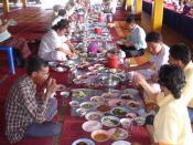 In Uttaradit, Thai food.
