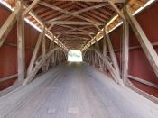 An example of the Burr arch truss design used in most of Lancaster County's covered bridges
