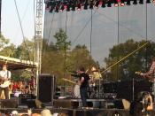 Death Cab for Cutie performing at the Bonnaroo Music Festival in 2006