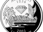 The quarter for Arkansas, released October 20, 2003